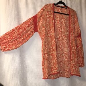 FREE PEOPLE floral throw over blouse style